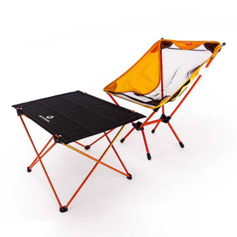 Brilliant Us 61 37 50 Off Portable Foldable Folding Diy Table Chair Desk Camping Traveling Picnic 7075 Aluminium Alloy Ultralight Outdoor Golden Set In Garden Spiritservingveterans Wood Chair Design Ideas Spiritservingveteransorg