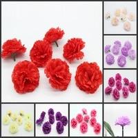 100 Pièces 2.4 Pouces Rose Fleurs de Soie Artificielle Heads Oeillets Fleurs De Mariage Accueil Garden Party Décor 6 Cm