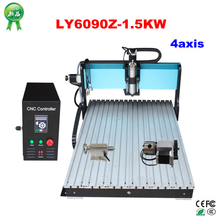 3D CNC Router 3040Z-VFD Woodworking Machinery with 800W CNC Spindle , 110v 220v