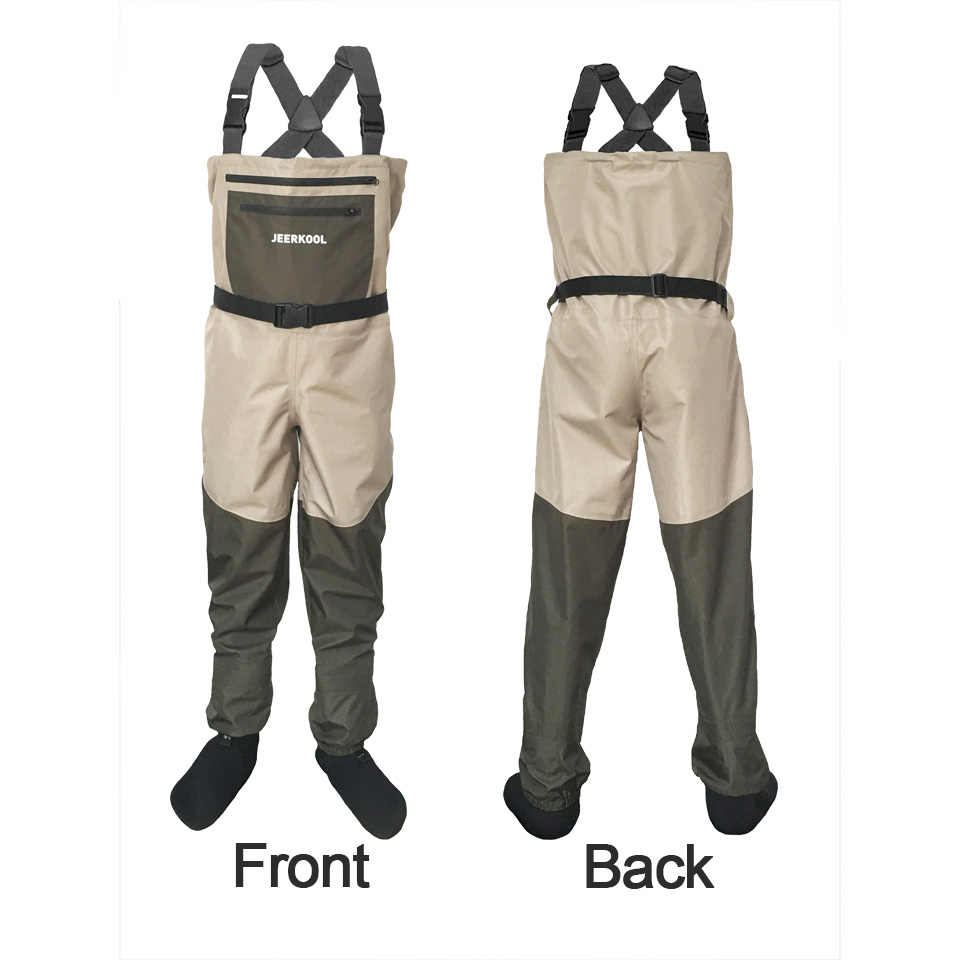5f03b84fd1dc9 ... Fly Fishing Waders Clothing Portable Chest Overalls Men's Waterproof  Clothes Wading Pants Breathable Stocking Foot Good ...