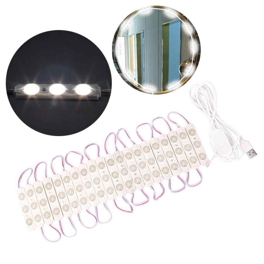 Зеркало для макияжа 60 светодиодный зеркало с подсветкой для макияжа светильник с регулировкой яркости строка туалетное зеркало со светодиодной подсветкой туалетный столик с USB