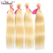 Vallbest 613 Blonde Straight Hair 4 Bundle Deals Brazilian Hair Weave Bundles Re