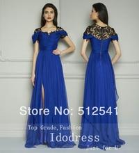 Fashion Chiffon Mother of the Bride Dresses Sheath Sweetheart Pleats Lace Side Splite Short Sleeves yk8R942