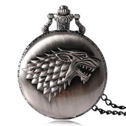 2016 Античная Игра престолов Strak семья Crest скоро зима оригинальные карманные часы уникальные подарки унисекс Fob часы