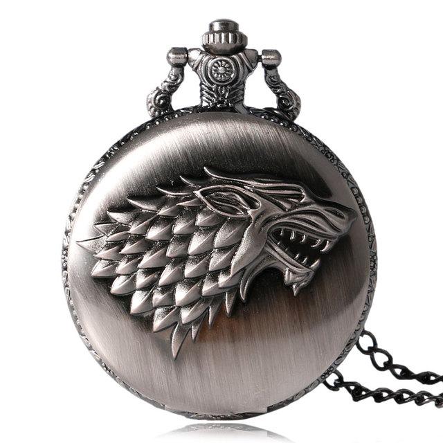 Reloj de Bolsillo Strak el escudo de la familia de invierno