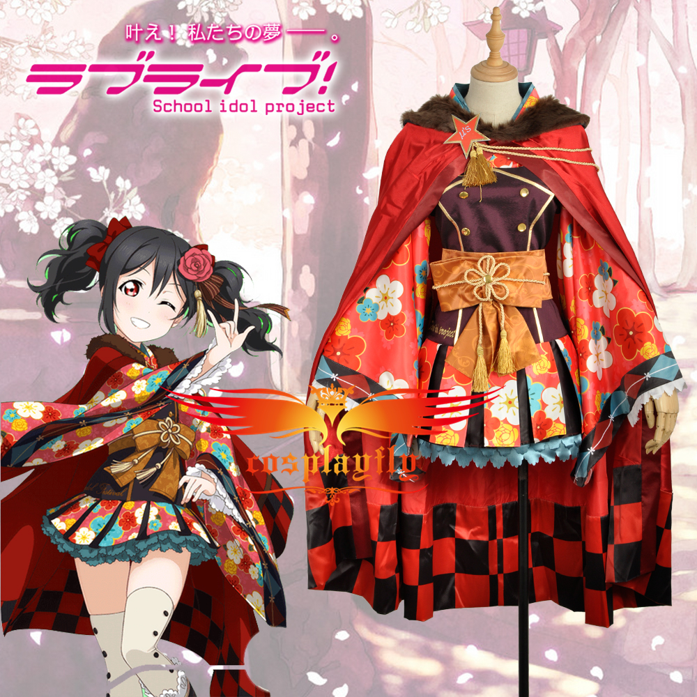 Love Live Rin Hoshizora Cosplay Costume Unawakened Taisho kimono Custom Size