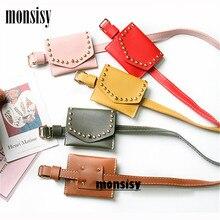 Monsisy Unisex Rivet Waist Bag for Girls Boys Belt Pack Children Retro Baby Coin Purse Kids Fanny Pouch