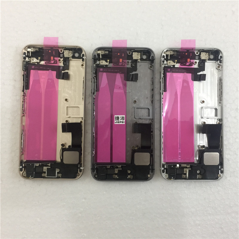 JIEPEI Assembly Battery-Cover Middle-Frame 5s-Back Full-Housing iPhone 5 Chassis Door