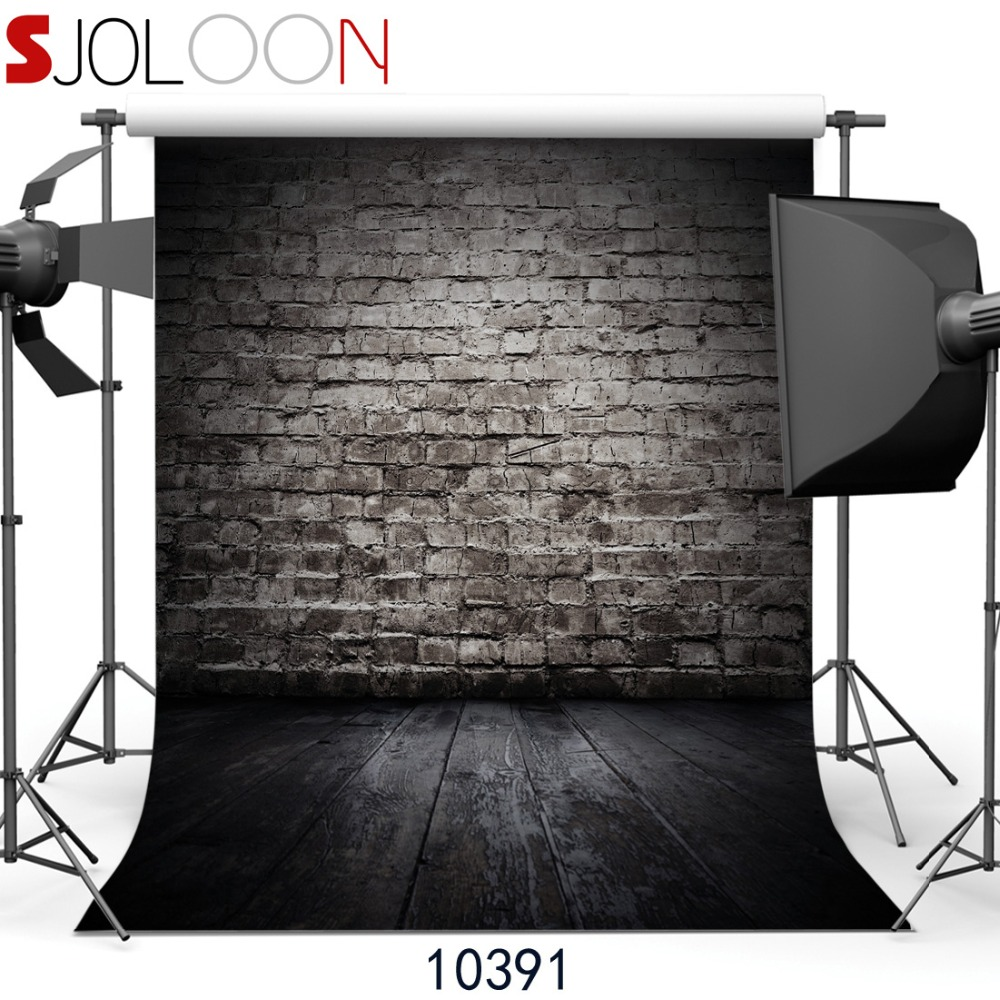 sjoloon retro brick wall and wood floor photography background for baby photography background. Black Bedroom Furniture Sets. Home Design Ideas