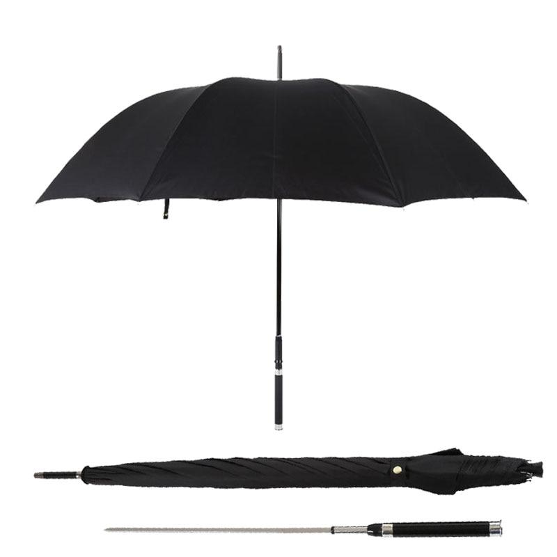 Stylish Sword Warrior Self defense Long Handle Man Automatic Umbrella Windproof Creative Business Sunny And Rainy