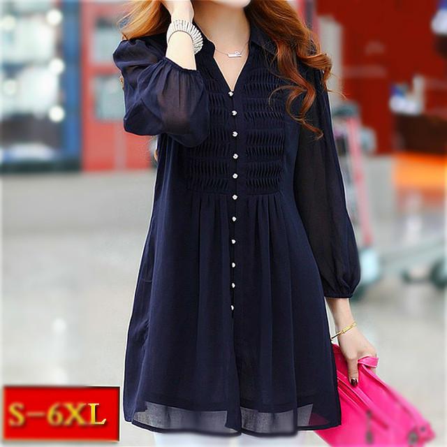 Mulheres túnicas Tops túnica ruffle Mulheres blusa 6xl Plus Size rendas Xxl Roupa Das Mulheres Outono Camisa Das Mulheres Camisas de Manga Longa 5xl