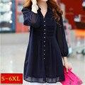Tunics Women Tops tunic ruffle blouse Women 6xl Plus Size Lace Xxl Womens Clothing Autumn Shirt Womens Long Sleeve Shirts  5xl