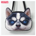 Retro Cartoon Animals Women Shoulder Bags For Ladies Personalized Dog Head Tote Bag Women's Fashion Handbag 3D Printed Bag