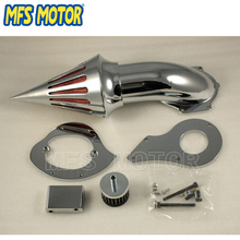 Freeshipping Motorcycle Spike Air Cleaner Filter Kit For Honda Shadow VLX 600 1999& Up Chrome