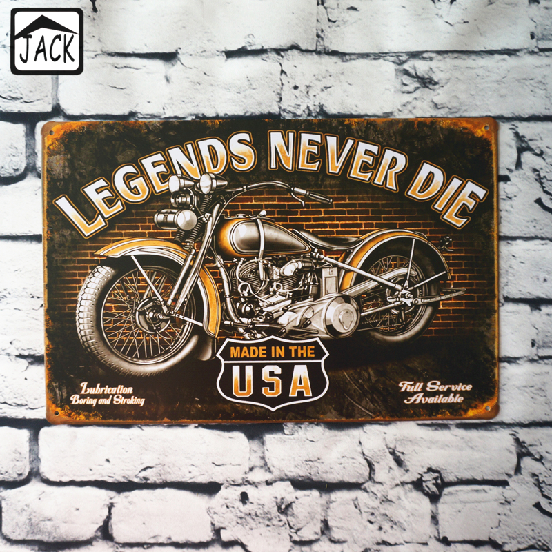 Barn Garage Signs : Legends never die usa motorcycle metal tin sign garage