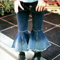 2017 Toddler Pants Harem Wide Leg Pants Solid Fashion Ruffle pants for Girls Cotton Pants Skinny Jeans  for Spring