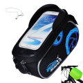 2017 New 4.8/5.8 inch waterproof bike frame top tube bag bicycle bag mountain bicycle accessories touchscreen phone bike bag