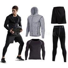 Vansydical спортивные 2018 мужской костюм бег костюмы 5шт мужчин тренажерный зал одежда тренировки спортивные костюмы Баскетбол обучение Джерси костюмы