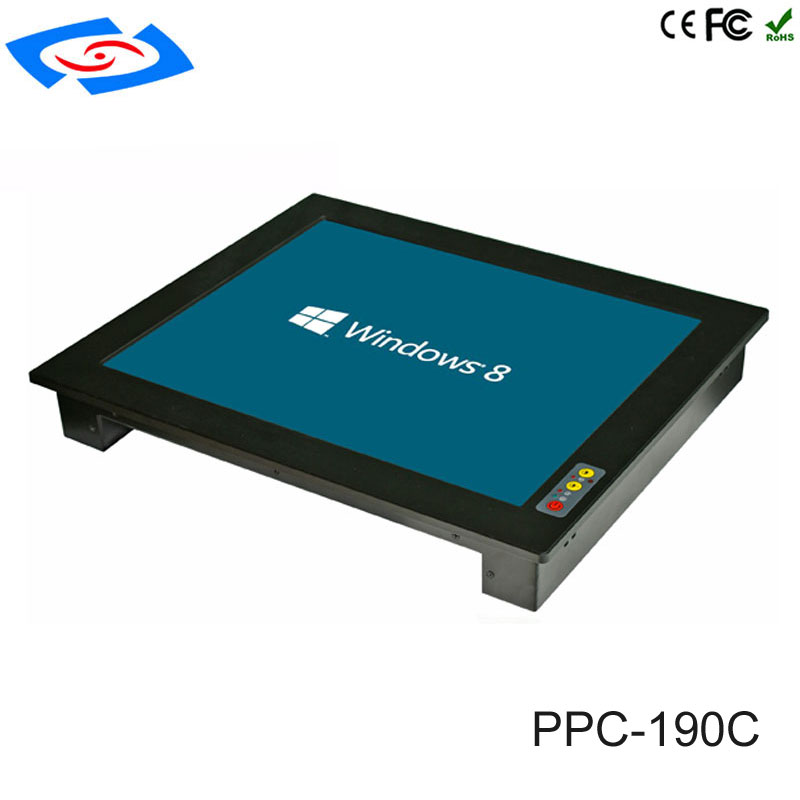 Factory Store 19 Inch Rack Mount LCD Monitor Mini Fanless Industrial Panel PC With 1280x1024 Resolution For Factory Automation