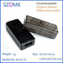 20 шт., 53*24*14 мм usb электрические пластиковый корпус корпус прибора высокое качество abs usb флэш-накопитель пластиковый корпус коробка проект