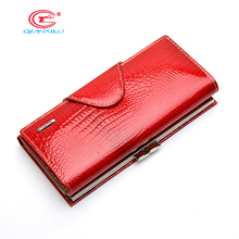 Fashion 100% Genuine Leather Wallet For Women,High Quality Coin Purse Female Long Design