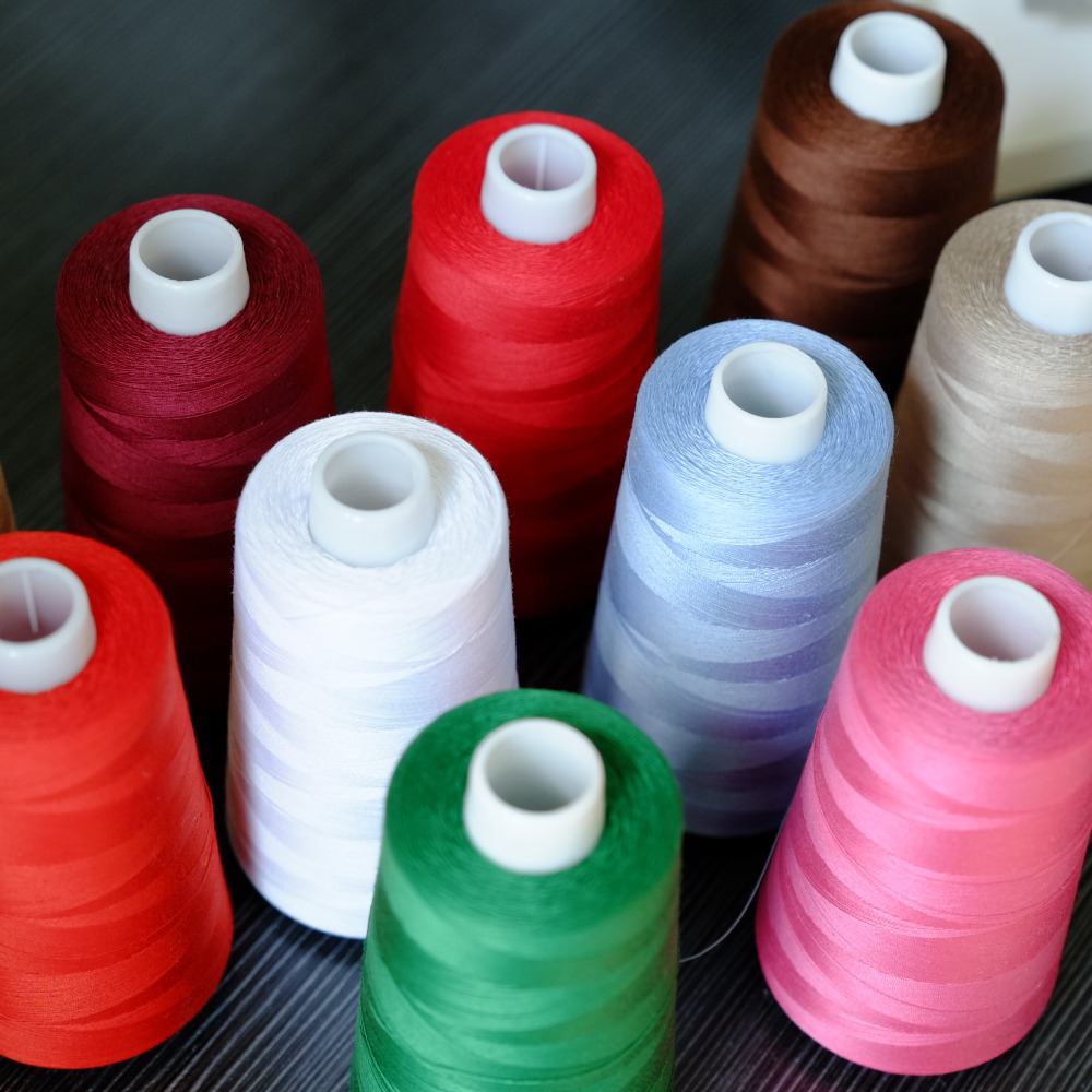 40WT 2500M Mercerized And Singed High Sheen Cotton Quilting Thread All Purpose Sewing 100% Long Fibre Egyptian Cotton 40S/3
