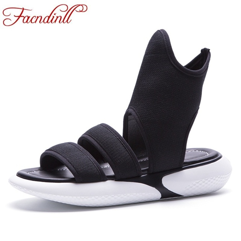 FACNDINLL hot fashion high gang summer shoes woman 2018 new wedges sandals open toe women black casual date platform sandals facndinll new women summer sandals 2018 ladies summer wedges high heel fashion casual leather sandals platform date party shoes