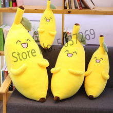 Giant Soft Banana Plush Pillow Cute Expression Fruit Long Sleeping Toy Doll Girl Birthday Gift