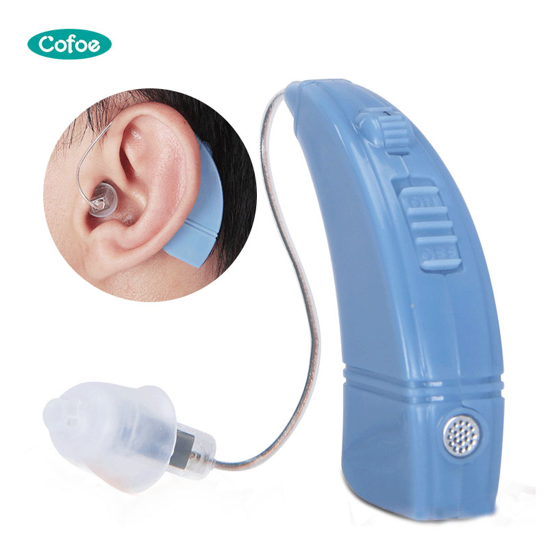 1pcs BTE USB Charge Hearing Aid Wireless Invisible Amplify Sound Portable For Hearing Loss Patient Elderly Adjustable Volume