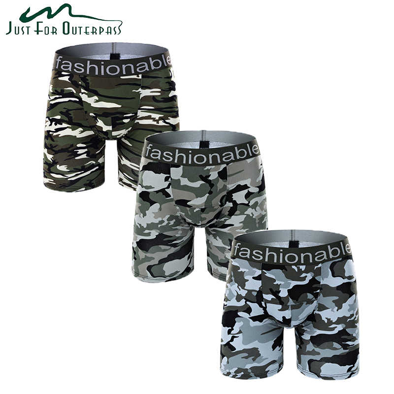 New Arrival Summer Boxers Men Sweat Absorption Breathable Movement Cotton Underpants Comfortable Elastic Camouflage Underwear