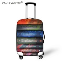 5fdc5c9f6436 ELVISWORDS Harry Potter Book Print Luggage Cover Dustproof Suitcase Bags  New Luggage ID Name Tags Customized