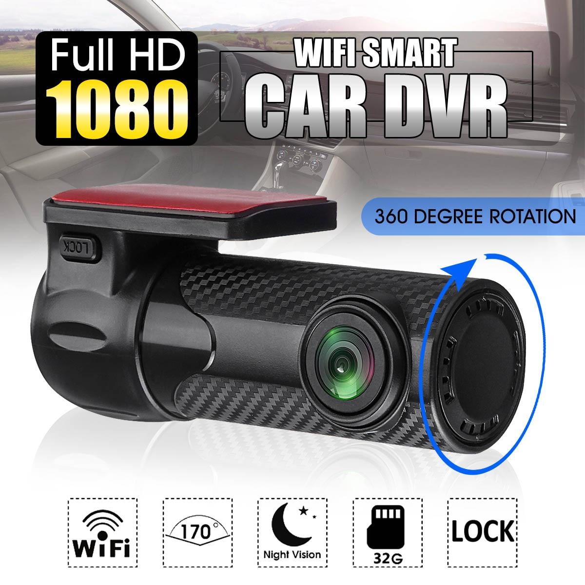 Мини Wi-Fi автомобиля Скрытая DVR камера FHD 1080P Беспроводной видео Регистраторы Registrar 170 градусов видеорегистратор Детекторный шлейф Запись