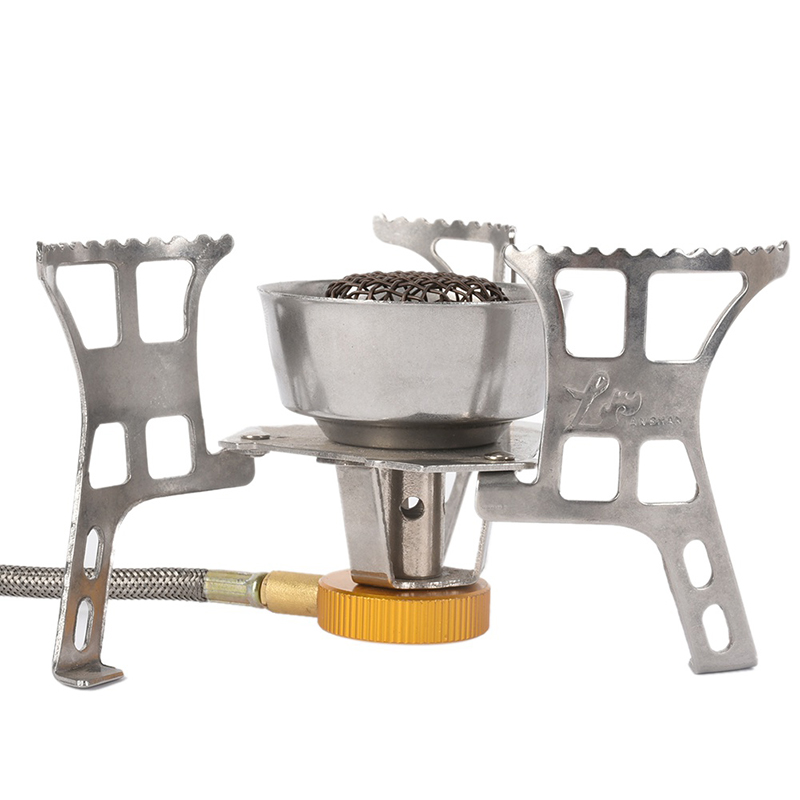 Outdoor Cooking Furnace Multifunctional Outdoor Windproof Gas Camping Butane Stove Portable Split Stove New