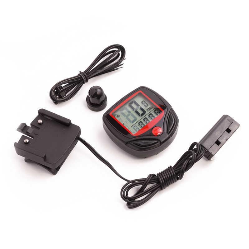 คอมพิวเตอร์จักรยานกันน้ำไร้สายและแบบมีสาย MTB จักรยานขี่จักรยานนาฬิกาจับเวลา Speedometer นาฬิกา LED ดิจิตอล Rate