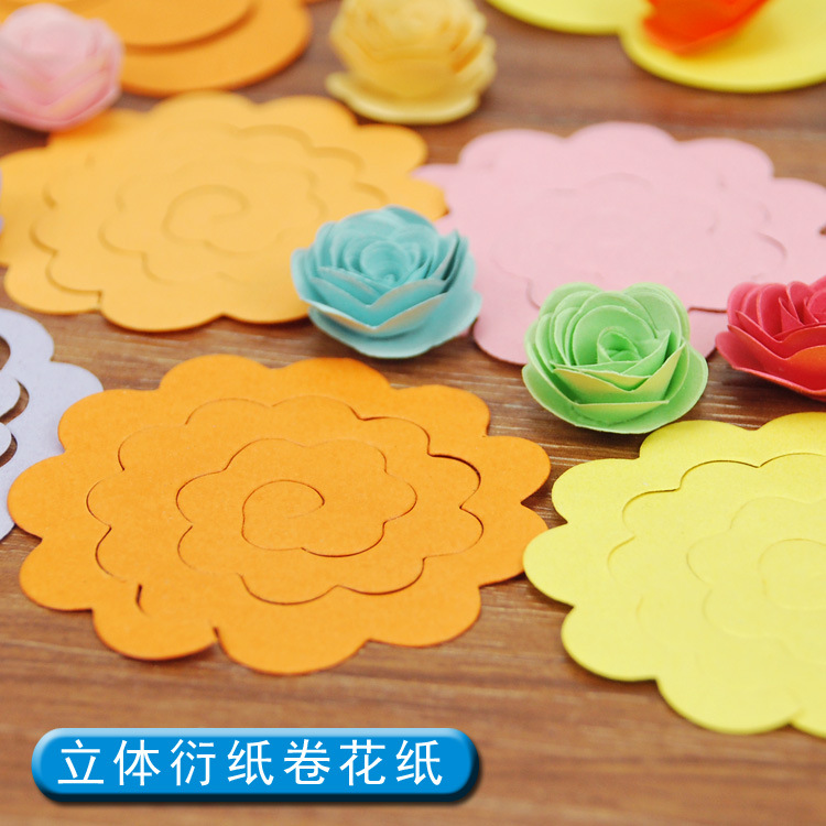 Hot sale 10colors 3d stereo craft paper paper rolling flowers 22pcs 10colors 3d stereo craft paper paper rolling flowers 22pcs diy origami paper quilling material mightylinksfo