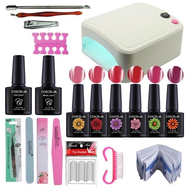 36W/24W UV Lamp for Nail Manicure Gel Kit Nail Set UV Gel Polisni ...