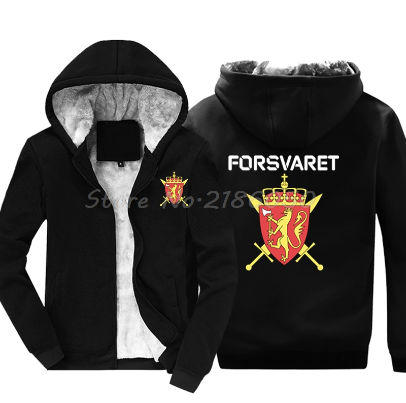 Fashion New Norwegian Norway Army Special Forces Forsvaret Black Sweatshirt Men Cotton Jacke Hoodies Harajuku Streetwear Fitness