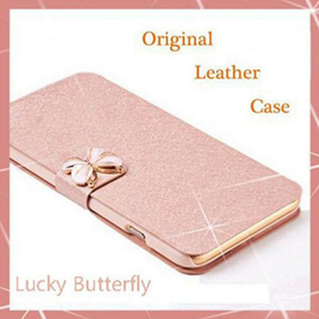 Phone Case For Lenovo A6010 Phone Bag Luxury Stand Silk Flower Design Wallet Leather Flip Cover Cases For Lenovo A <font><b>6010</b></font> image