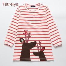 Baby girls princess dress kids dresses for christmas Reindeer Fstreiya spring 2019 baby autumn belle clothes
