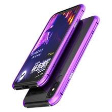 Чехол-бампер с двумя металлическими краями для IPhone X, Роскошный чехол из алюминиевого сплава для смартфонов и легких чехлов для телефонов