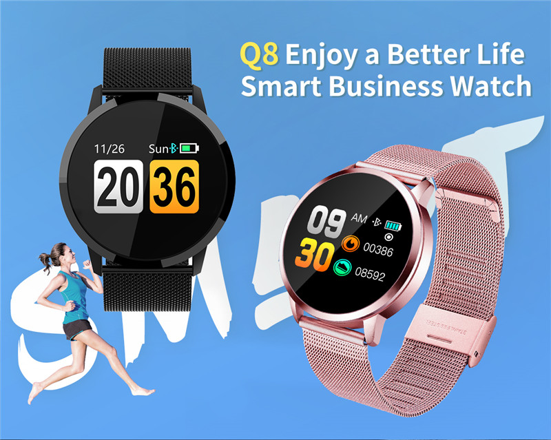 MAFAM Q8 Smart Watch OLED Color Screen Smartwatch Men Women Fashion Fitness Tracker Heart Rate Monitor For IOS Android Watch (1)