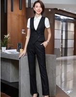 High Quality Fabric Uniform Designs Pantsuits With Pants and Vest Coat & Waistcoat For Women Business Work Wear Pants Suits