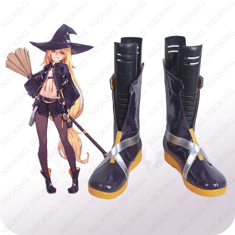 New Game TouHou Project Mafia Kirisame Marisa Cosplay Anime boots Shoes Custom-made image