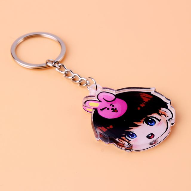 Acrylic Anime Cute Keychain Love Yourself Porte Clef Key Chain 2