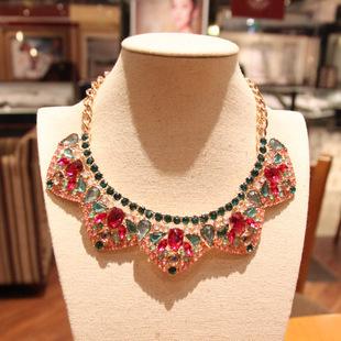 Collar falso del collar nuevo 2015 de corea del lujo elegante joyería al por mayor envío libre/gros collier femme/colar/collares populares