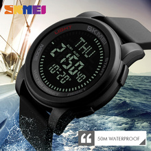 лучшая цена SKMEI Mens Compass Sports Watches Outdoor Waterproof Military Watch Alarm Clock  Countdown Digital Wristwatches Relogio Masculin