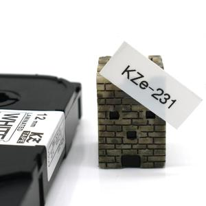 Image 3 - CIDY Compatible laminated tze 231 tz231  tze231 12mm Black on white Tape tze 231 tz 231 for brother p touch printer tze 131