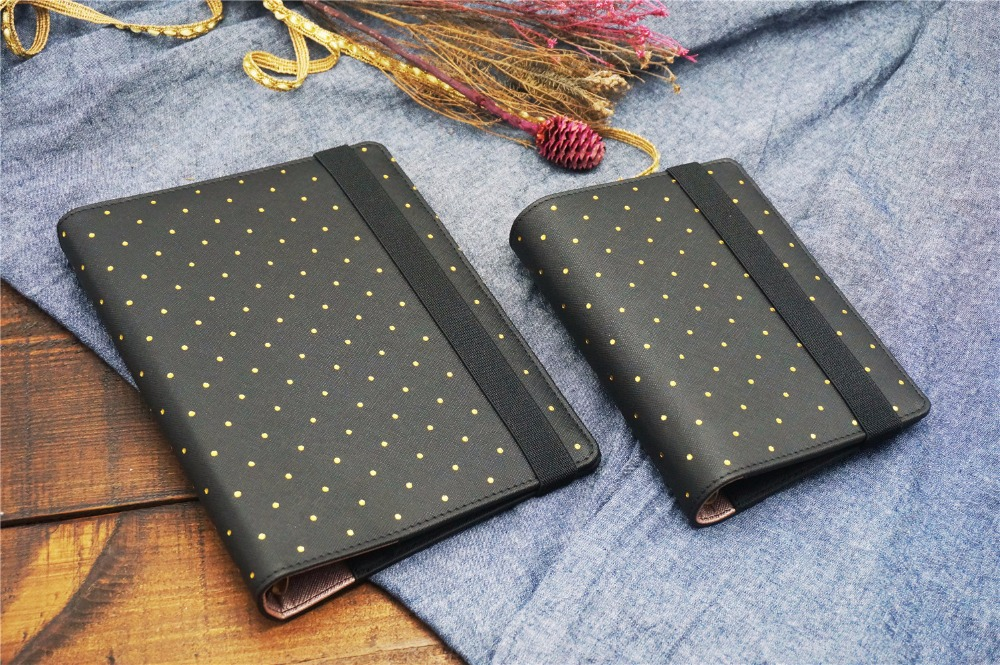 A5 A6 Polka Dot Filofax Organizer Planner Bandage Loose Leaf Spiral Planner Agenda notepad Gorgeous Harphia Faux Leather harphia separate page a5 a6 planner divider flower series creative match for 6 holes loose leaf notebook agenda journals