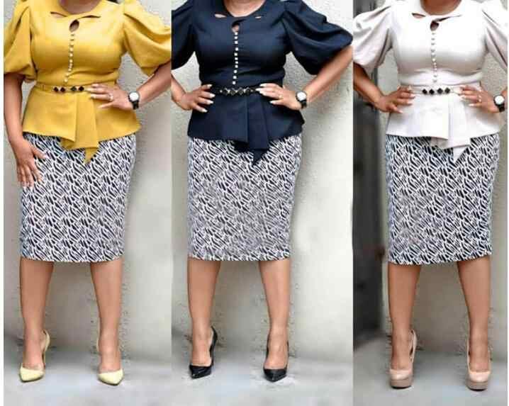 Африканские платья 2019 модные рабочие костюмы 2 шт набор для женщин Винтаж фонарь рукав Топ карандаш Офисная Женская юбка костюм