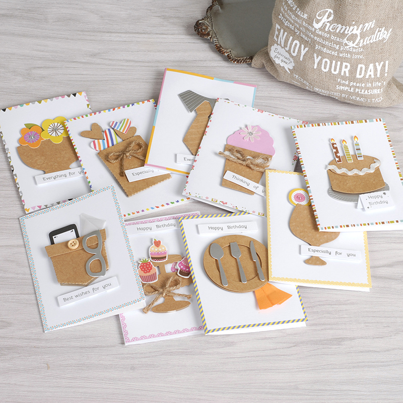 Kids Handmade Cards Mini Cards Paper 3D Cards Cute Happy ...